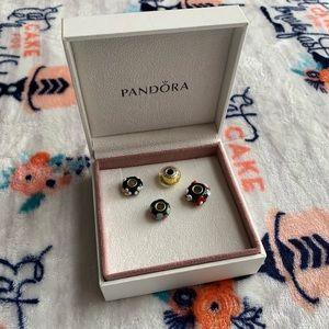 Four Pandora Charms